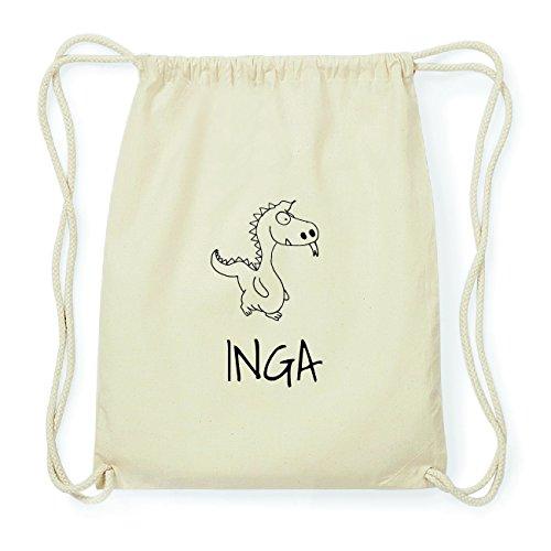 JOllipets INGA Hipster Turnbeutel Tasche Rucksack aus Baumwolle Design: Drache