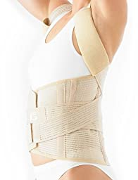 NEO G Dorsolumbar Support/Brace - LARGE - Beige - Medical Grade support, pre/post operative rehabilitation aid HELPS with early kyphosis, muscular aches and spasms, provides additional back support