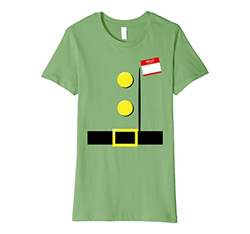 Teacher Group Costume Ideas (Womens Dwarf Halloween Group Costume Idea T-Shirt with Name Plaque Small Grass)
