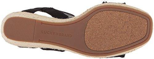 Black Wedge Brand Espadrille Women's Sandal Marceline Lucky IvwY7qS7