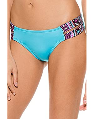 Women's Global Mix Tab Side Hipster Bikini Bottom