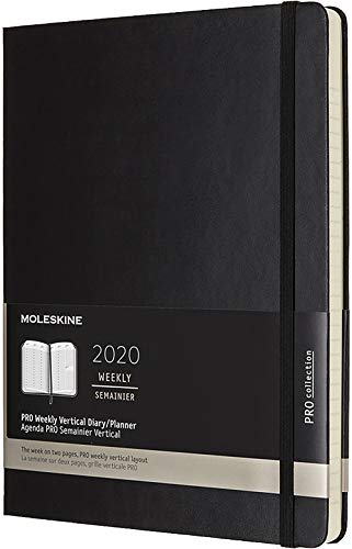 (Moleskine 2020 Professional Weekly Vertical Planner, 12M, Extra Large, Black, Hard Cover (7.5 x 9.75) )