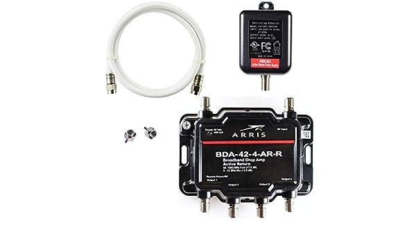 Arris - Amplificador de 4 Puertos para TV OTA Satellite HDTV ...