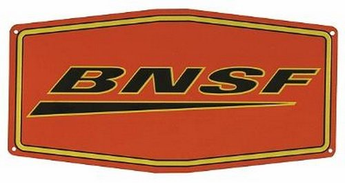 - Microscale 10040 Die-Cut BNSF Metal Sign