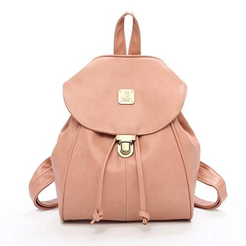 Con In Impermeabile Daypack Zaino Viaggio Coulisse Pu Black Pink Donna Da Per Sakuldes color 1wt8x0X8