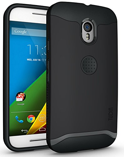 TUDIA Slim-Fit Merge Dual Layer Protective Case for Motorola Moto G 3 (3rd Gen 2015 Released) (Matte Black)