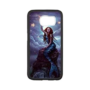 Chaap And High Quality Phone Case For Samsung Galaxy S6 -Mermaid And Ocean Pattern-LiShuangD Store Case 3