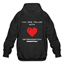 HUBA Men's Hoodies Undertale 1 Black