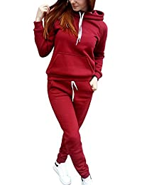 Women Casual Tracksuits Hoody Sportswear Set Outfit With Pockets