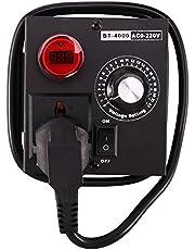 Yantan Ac220 V 4000 W Scr elektronisk spänningsregulator temperatur motor fläkt varvtalsregulator dimmer elverktyg justerbar, EU-kontakt