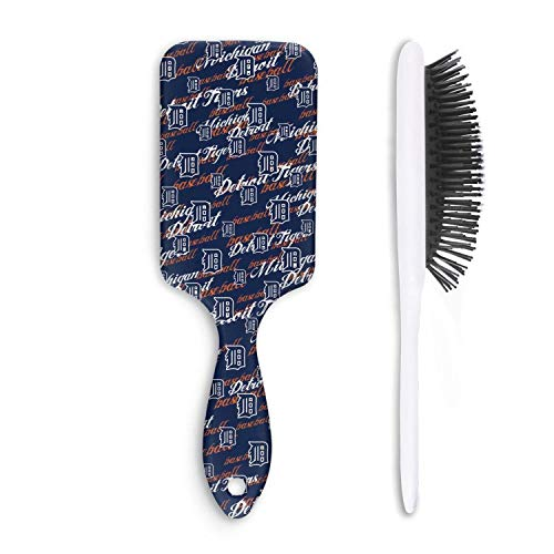 Cute Hair Brush Detroit Tigers Anti-static Unisex Fashion comfortable Rough Styling Child Comb