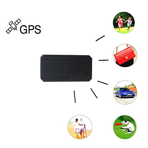 Mini GPS Tracker,GPS car Tracker Hangang Anti Thief Mini Real Time GPS Tracker Portable GPS Tracking Anti Loss GPS Locator Long Standby Time 200h for Purse Bag Wallet Bags Kids for iOS and Andriod by Hangang