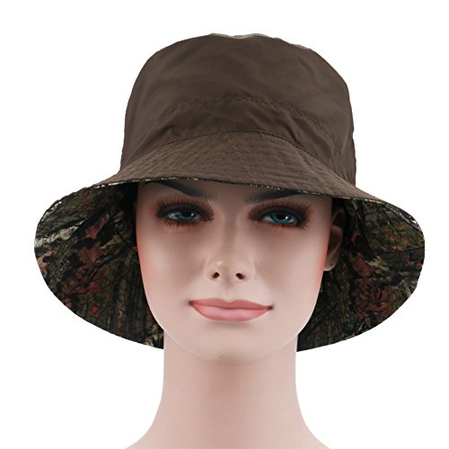 Cappello Green - Ezyoutdoor Women's Summer UPF 50+ Quick-dry Reversible Double Side Colorful Pattern Sun Hat Reversible Bucket Hat for Hiking Camping Running Traveling (Army Green)