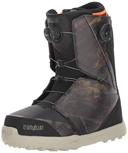 (ThirtyTwo Lashed Double Boa '18 Snowboard Boots, Size 10.5, Black/Camo)