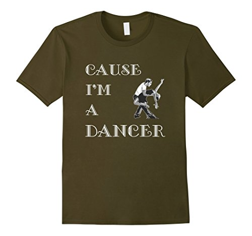 [Men's Dance T-Shirt Dancer Small Olive] (Cabaret Costumes For Men)
