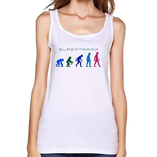 Vanderbilt Womens White Tank Top (WANTAI Women's Supertramp Design Tank Top)