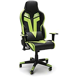 RESPAWN-104 Racing Style Gaming Chair - Reclining Ergonomic Leather Chair, Office or Gaming Chair (RSP-104GRN)