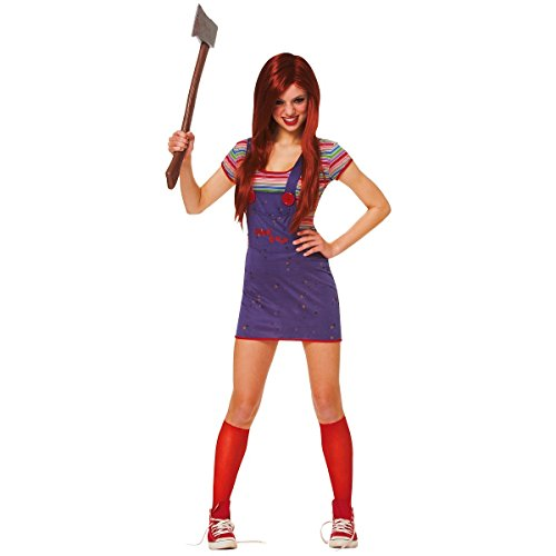 Chucky Costumes For Adults (Costume Culture Women's Licensed Sassy Chucky Teen Costume, Blue, X-Small)