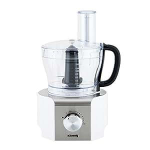 H.Koenig MX18 White - Procesador de alimentos multifunción, 800 W, 1,5 l, color blanco