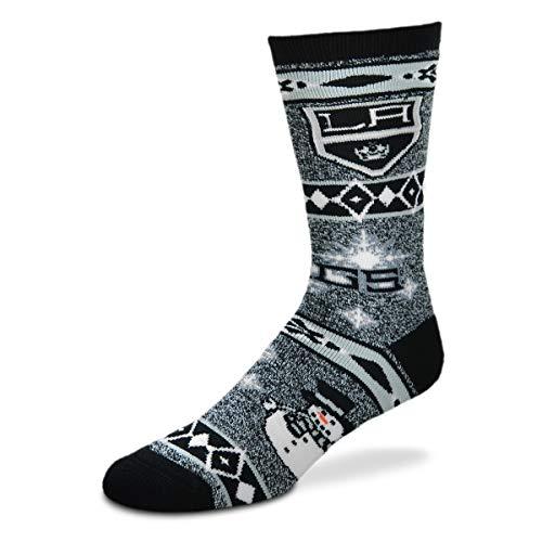 (For Bare Feet NHL Ugly Christmas Holiday Snowman Socks-LA)