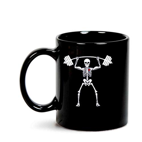 Weightlifting Skeleton Halloween Xray