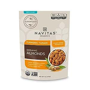 Navitas Organics Superfood+ — Turmeric Tamari Almonds, 4 oz. Bags (12 Pack)