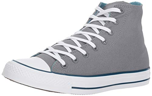 Cool Grey Apparel - Converse Chuck Taylor All Star 2018 Seasonal High Top Sneaker, Cool Grey/Shoreline Blue, 5.5 M US men's,7.5 M US women's