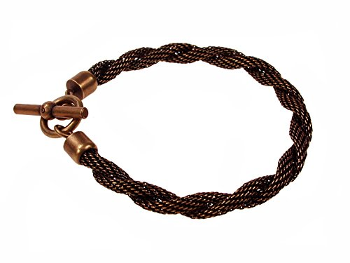 - Twisted Mesh Bracelet with Toggle Closure (copper)