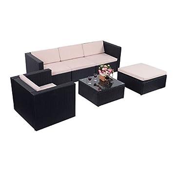 Amazon.com: Cypress Shop - Juego de muebles de mimbre de 6 ...