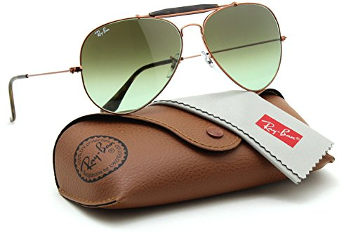 Ray-Ban RB3029 9002A6 OUTDOORSMAN II Green Gradient Aviator Sunglasses - Ban Outdoorsman Ray Ii