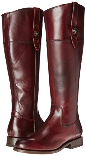 FRYE Women's Jayden Button Tall-SMVLE Riding Boot,  Bordeaux, 9.5 M US