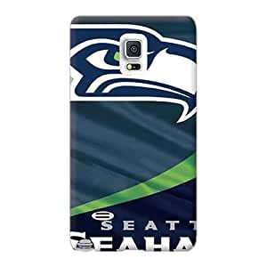 Anti-Scratch Hard Phone Cover For Samsung Galaxy Note 4 (Wpo1170Bhpb) Provide Private Custom Fashion Seattle Seahawks Series