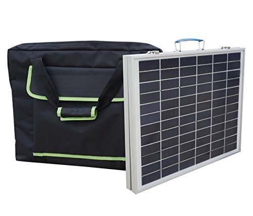 ECO-WORTHY 40 Watts 12 Volts Portable Foldable Polycrystalline Solar Panel Kit with Handbag Outdoor Solar Suitcase Battery Charger