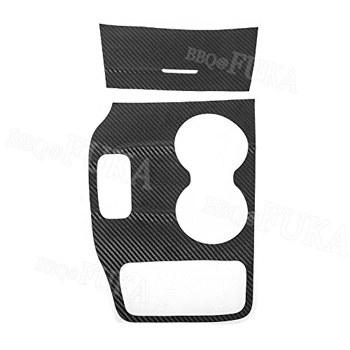 PyLios Car Gear Shift Panel Water Cup Holder Trim Sticker For Jeep Grand Cherokee 2014-2015 Carbon Fiber Style