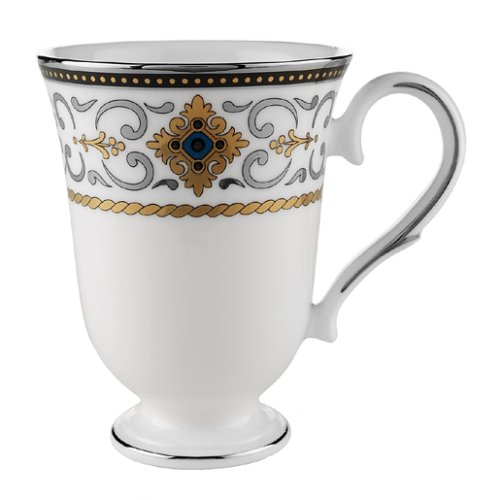 Cobalt Platinum Mug - Lenox Vintage Jewel Platinum Banded Bone China Accent Mug