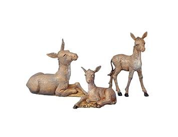 3 Piece Set 5 Donkey Family Figure Fontanini by Roman