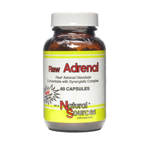 Natural Sources Raw Adrenal Nahrungsergänzungsmittel 60 Kapseln