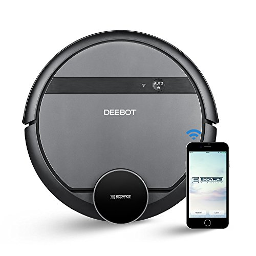 ECOVACS DEEBOT 901 Robotic Vacuum Cleaner with SmartNavi 3.0, Systematic Back-and-Forth Cleaning, Alexa & Google Home Connectivity, Virtual Mapping for Creating Cleaning Areas by ECOVACS