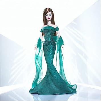 Doll Emerald Collection Amazon By Mattel esBarbie Birthstone May Ybf76yg