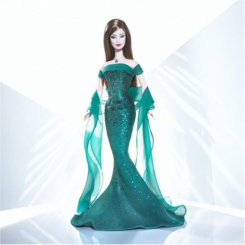 Barbie Doll May Emerald Birthstone Collection by Mattel