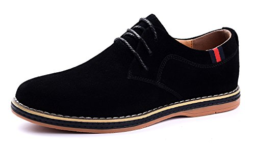 Vancilin men's Casual Suede Leather Dress Working shoes Fashion Lace-Up Oxford Shoes