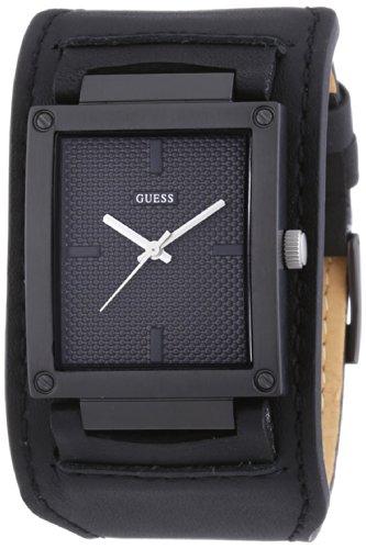 Guess Herren-Armbanduhr Analog Quarz Leder W0359G2