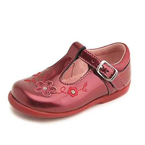 Start-rite - Zapatos primeros pasos para niña Rojo morado oscuro Rojo - morado oscuro