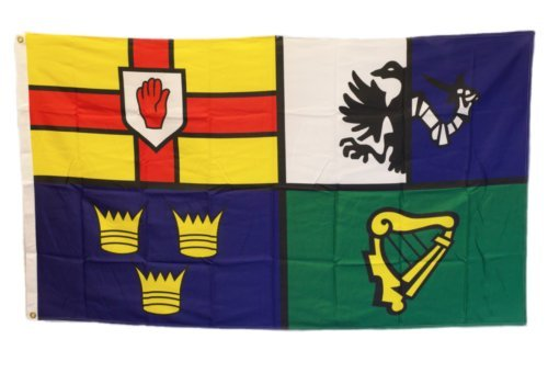 ALBATROS 3 ft x 5 ft Ireland 4 Provinces Flag 5inx3in 150cm x 90cm Woven Polyester (ACE) for Home and Parades, Official Party, All Weather Indoors Outdoors