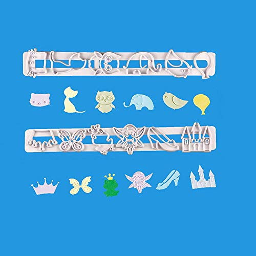 2pcs Kids Fairy Tale Animal Cartoon Plastic Biscuit
