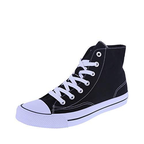 Airwalk Men's Black White Canvas Men's Legacee Sneaker High-Top 10.5 Regular (Shoes High Canvas)