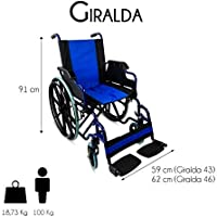 Mobiclinic, modelo Giralda, Silla de ruedas plegable, ortopédica