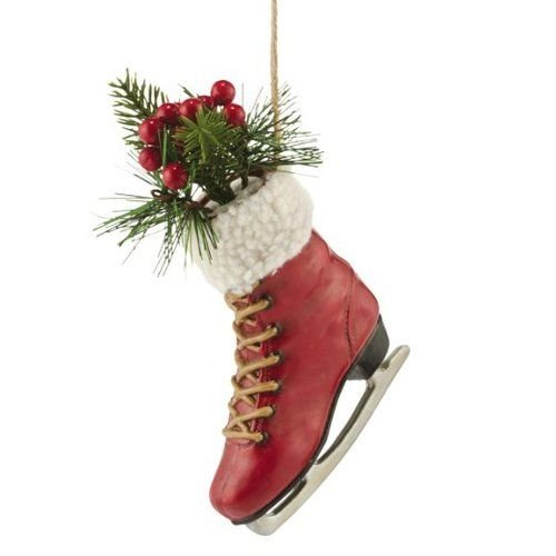 Department 56 The Woodland Suite Ice Skate Hanging Ornament, 7.5 inch (Christmas Tree Decoration Ice Skate)