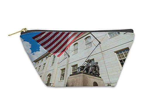 Gear New Accessory Zipper Pouch, John Harvard Statue In Harvard University In Cambridge Ma, Large, - Us Cambridge Ma