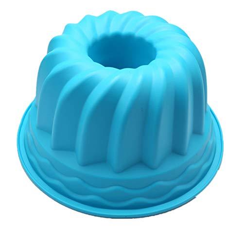 Large hollow round 9 inch chiffon cake mold gear plate silicone cake moldblue2310.5cm